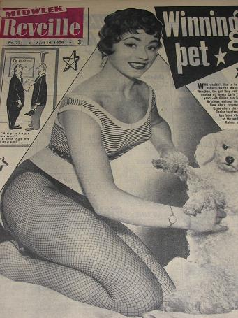 REVEILLE magazine, April 10 1956 issue for sale. GILLIAN VAUGHAN. Vintage STORIES, HUMOUR. Classic i