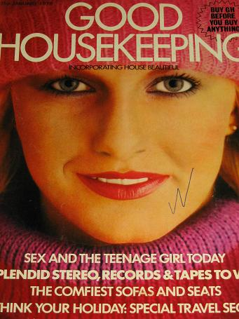 GOOD HOUSEKEEPING magazine, January 1978 issue for sale. Original gifts from Tilleys, Chesterfield,