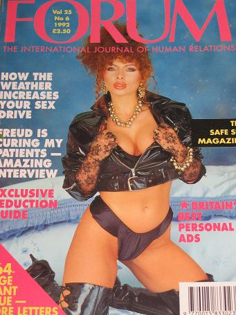 FORUM magazine, Volume 25 Number 6 issue for sale. 1992 ADULT, SEXUAL RELATIONS publication. Classic