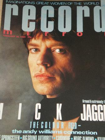 RECORD MIRROR magazine, February 16 1985 issue for sale. MICK JAGGER, SPRINGSTEEN, MARC ALMOND. Orig