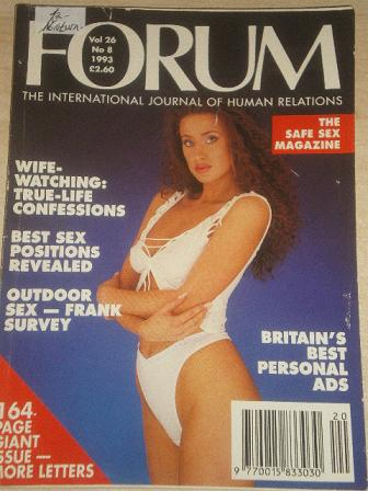FORUM magazine, Volume 26 Number 8 1993 issue for sale. Original British adult publication from Till