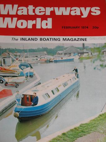 WATERWAYS WORLD magazine, February 1974 issue for sale. CANALS, BOATS. Classic images of the twentie