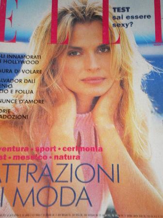 ELLE magazine, March 1994 issue for sale. Original ITALIAN FASHION publication from Tilley, Chesterf