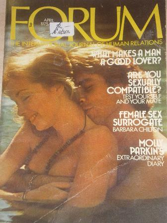 FORUM magazine, April 1975 issue for sale. Original British adult publication from Tilley, Chesterfi