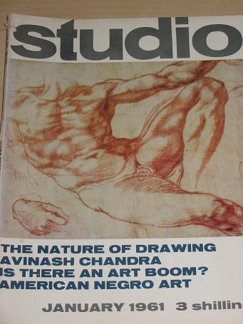 STUDIO magazine January 1961. CHANDRA, GARCIA, LAWRENCE. Vintage ART publication for sale. Classic i