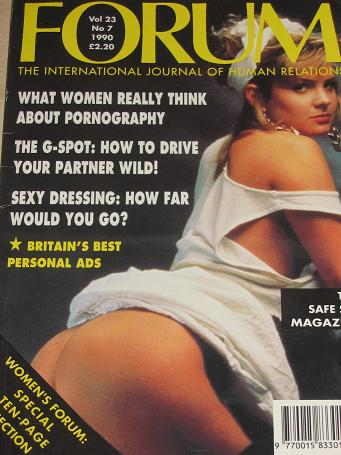 FORUM magazine, Volume 23 Number 7 issue for sale. 1990 ADULT, SEXUAL RELATIONS publication. Classic