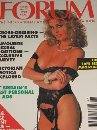 FORUM magazine, Volume 25 Number 12 issue for sale. 1992 ADULT, SEXUAL RELATIONS publication. Classi