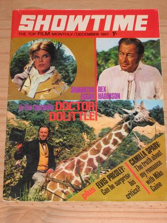 SHOWTIME MAGAZINE DECEMBER 1967 BACK ISSUE FOR SALE EGGAR HARRISON VINTAGE FILM MOVIE POP PUBLICATIO