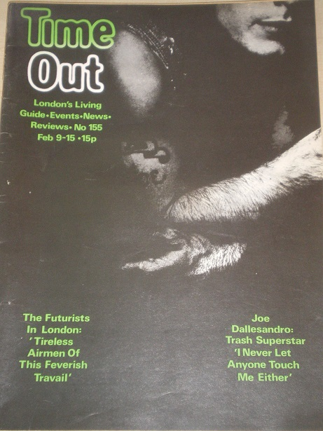 TIME OUT magazine, Number 155 issue for sale. Original 1970s BRITISH publication from Tilley, Cheste
