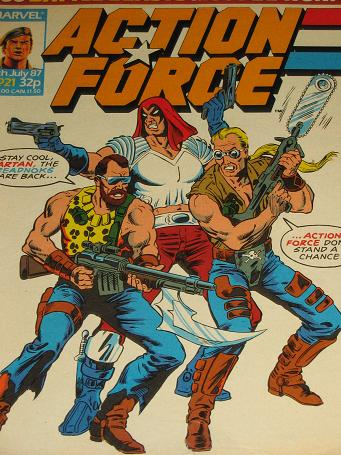 ACTION FORCE comic, 1987 issue Number 21 for sale. Original British publication from Tilleys, Cheste