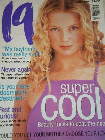 19 magazine, August 1997 issue for sale. Original UK publication from Tilley, Chesterfield, Derbyshi