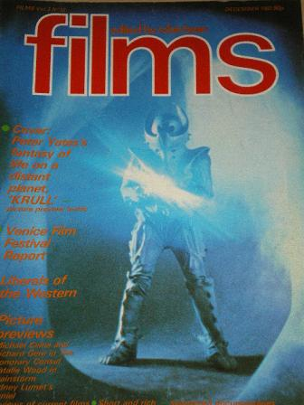 FILMS magazine, December 1983 issue for sale. KRULL. Original British publication from Tilley, Chest
