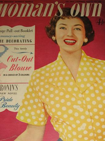 WOMANS OWN magazine, March 15 1956 issue for sale. FICTION, FASHION, HOME. Birthday gifts from Tille
