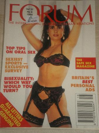 FORUM magazine, Volume 27 Number 8 1994 issue for sale. Original British adult publication from Till