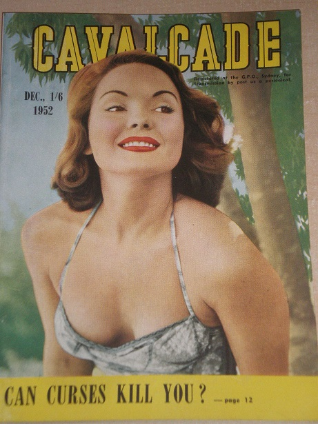 CAVALCADE magazine, December 1952 issue for sale. Original AUSTRALIAN publication from Tilley, Chest