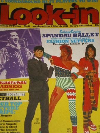 LOOK-IN magazine, 7 March 1981 issue for sale. SPANDAU BALLET. Original gifts from Tilleys, Chesterf