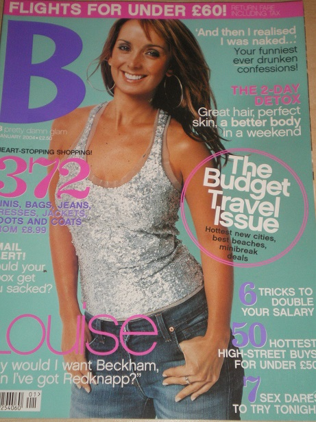 B magazine, January 2004 issue for sale. LOUISE REDKNAPP. Original British publication from Tilley,