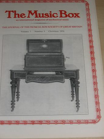 The MUSIC BOX magazine, Volume 7 Number 8 issue for sale, Christmas 1976. Vintage MECHANICAL MUSIC I