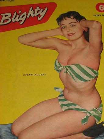 BLIGHTY magazine, April 14 1956 issue for sale. SYLVIA ROGERS. Vintage PIN-UP, CARTOONS, HUMOUR, STO