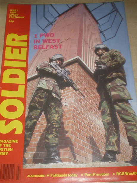 SOLDIER magazine, June 1 1992 issue for sale. Original British publication from Tilley, Chesterfield