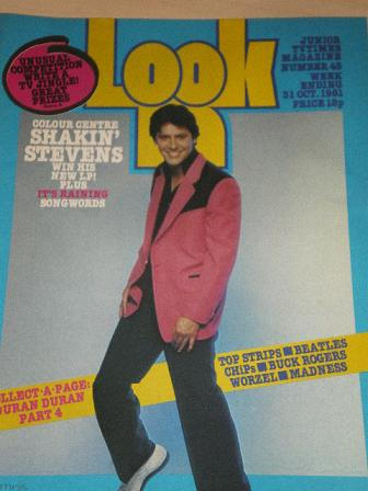 LOOK-IN magazine, 31 October 1981 issue for sale. SHAKIN STEVENS. Original gifts from Tilleys, Chest