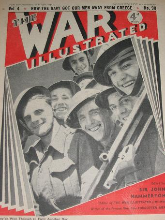 The WAR ILLUSTRATED magazine, May 23 1941 issue for sale. WW2 publication. TILLEYS, Chesterfield, De