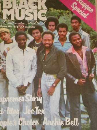 BLACK MUSIC magazine, October 1975 issue for sale. REGGAE SPECIAL. Original British publication from