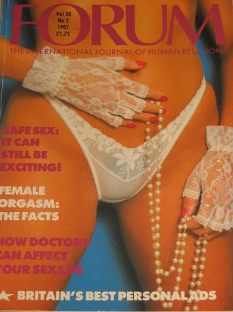 FORUM magazine, Volume 20 Number 2 issue for sale. 1987 ADULT, SEXUAL RELATIONS publication. Classic