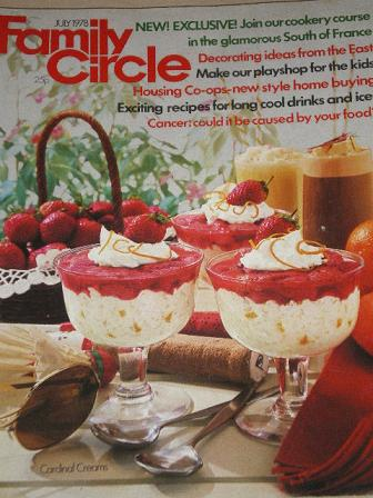FAMILY CIRCLE magazine, July 1978 issue for sale. COOKERY, HOME, FASHION, KNITTING. Original gifts f