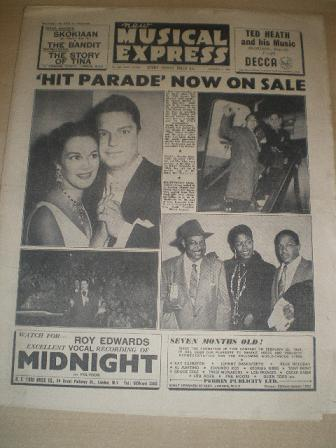 NEW MUSICAL EXPRESS, October 8 1954 issue for sale. Original British MUSIC publication from Tilley,