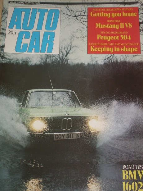 AUTOCAR magazine, 19 April 1975 issue for sale. Original BRITISH MOTORING publication from Tilley, C