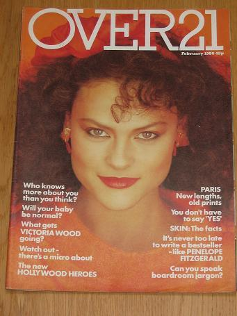OVER 21 magazine February 1980. Vintage womens, fashion, style publication for sale. Classic images