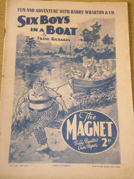 THE MAGNET story paper, August 26 1939 issue for sale. BILLY BUNTER, CHARLES HAMILTON, FRANK RICHARD