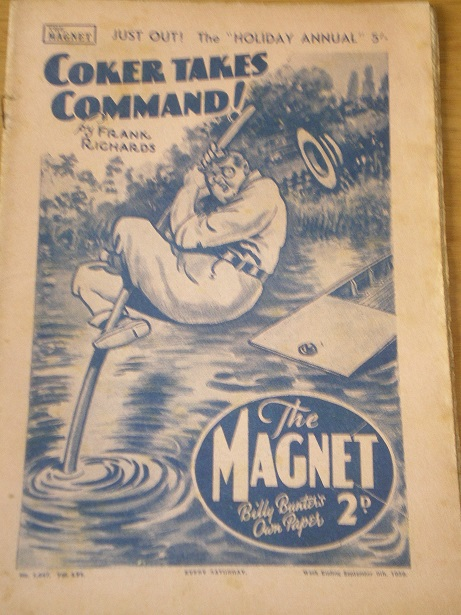 THE MAGNET story paper, September 9 1939 issue for sale. BILLY BUNTER, CHARLES HAMILTON, FRANK RICHA