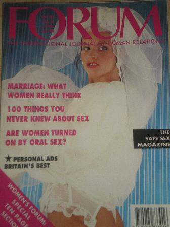 FORUM magazine, Volume 23 Number 4 1990 issue for sale. Original British adult publication from Till