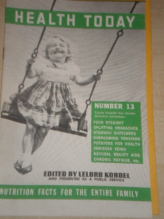 HEALTH TODAY magazine, Number 13 issue for sale. Original 1974 publication from Tilley, Chesterfield