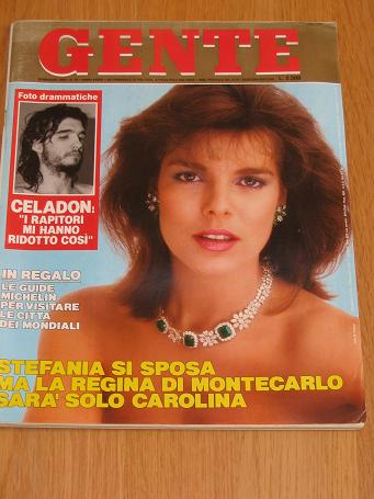 GENTE May 1990 STEPHANIE MONACO. Vintage Italian publication for sale. Classic images of the twentie
