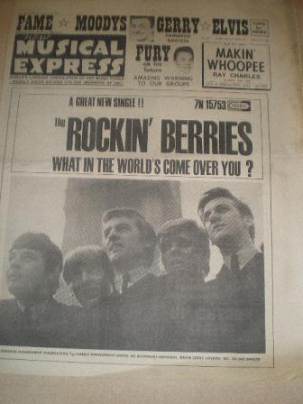 NEW MUSICAL EXPRESS, January 15 1965 issue for sale. FURY, ELVIS, MOODYS. Original British MUSIC pub