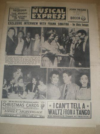 NEW MUSICAL EXPRESS, November 5 1954 issue for sale. Original British MUSIC publication from Tilley,