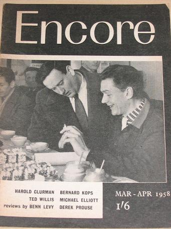ENCORE magazine, March - April 1958 issue for sale. Vintage THEATRE publication. Classic images of t