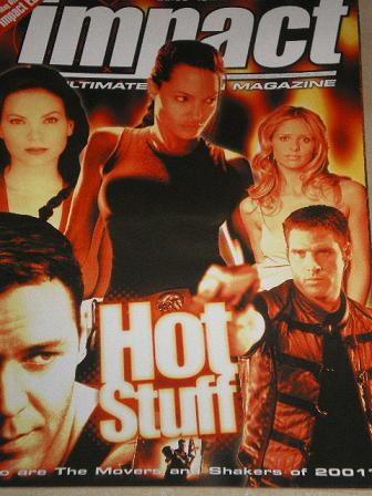 IMPACT magazine, May 2001 issue for sale. HOT STUFF. Original British ACTION MOVIE publication from