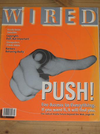 WIRED MAGAZINE MARCH 1997 BACK ISSUE FOR SALE VINTAGE PUBLICATION PURE NOSTALGIA ARCHIVES CLASSIC IM