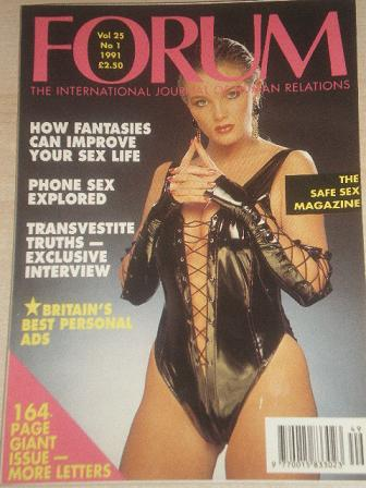 FORUM magazine, Volume 25 Number 1 1991 issue for sale. Original British adult publication from Till