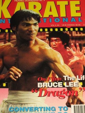 KARATE INTERNATIONAL magazine, February 1993 issue for sale. BRUCE LEE. Original gifts from Tilleys,