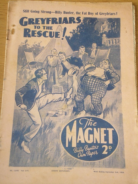 THE MAGNET story paper, September 2 1939 issue for sale. BILLY BUNTER, CHARLES HAMILTON, FRANK RICHA
