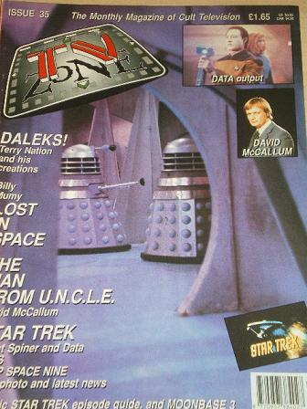 TV ZONE magazine, October 1992 issue for sale. Original gifts from Tilleys, Chesterfield, Derbyshire