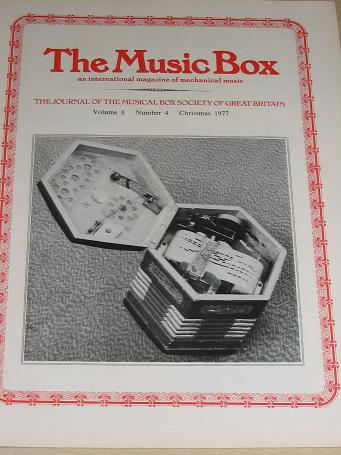 The MUSIC BOX magazine, Volume 8 Number 4 issue for sale, Christmas 1977. Vintage MECHANICAL MUSIC I