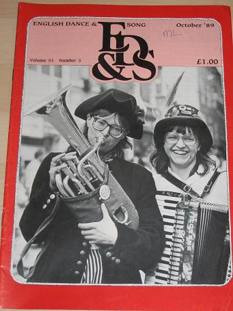 ENGLISH DANCE AND SONG magazine, Volume 51 Number 3 issue for sale. 1989 FOLK MUSIC, DANCE publicati