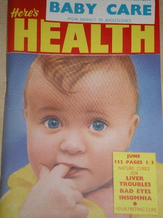 HERES HEALTH magazine, June 1962 issue for sale. Original publication from Tilley, Chesterfield, Der