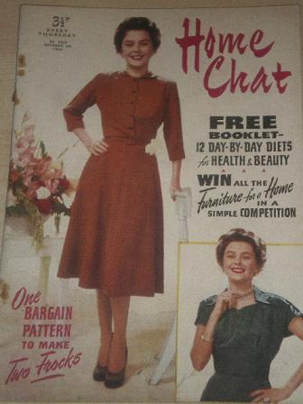 HOME CHAT magazine, October 4 1952 issue for sale. Original British publication from Tilley, Chester